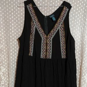 Knee length embroidered dress